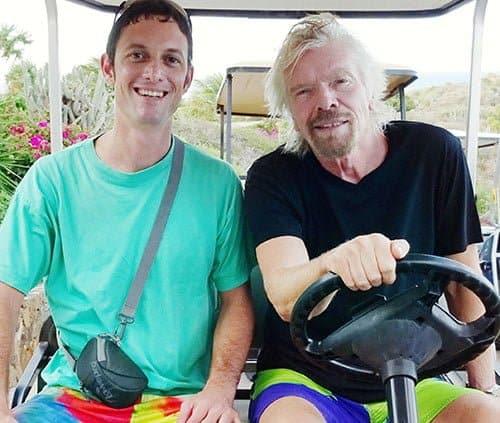 Andre Quin & Richard Branson